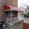 Aluminum Awning Over Basement Steps in Flushing
