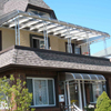Bronze Polycarbonate Patio Awning and Door Hood in Bayside