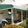 Before and After of New Aluminum Patio Awning in Fresh Meadows