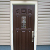 Before and After of Fiberglass Outswinging Prime Door