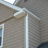 White Gutters to Match Aluminum Fascia & Leaders to Match Vinyl Shakes