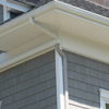 New Soffit & Fascia with Gutters to Match Trim and Vinyl Shakes