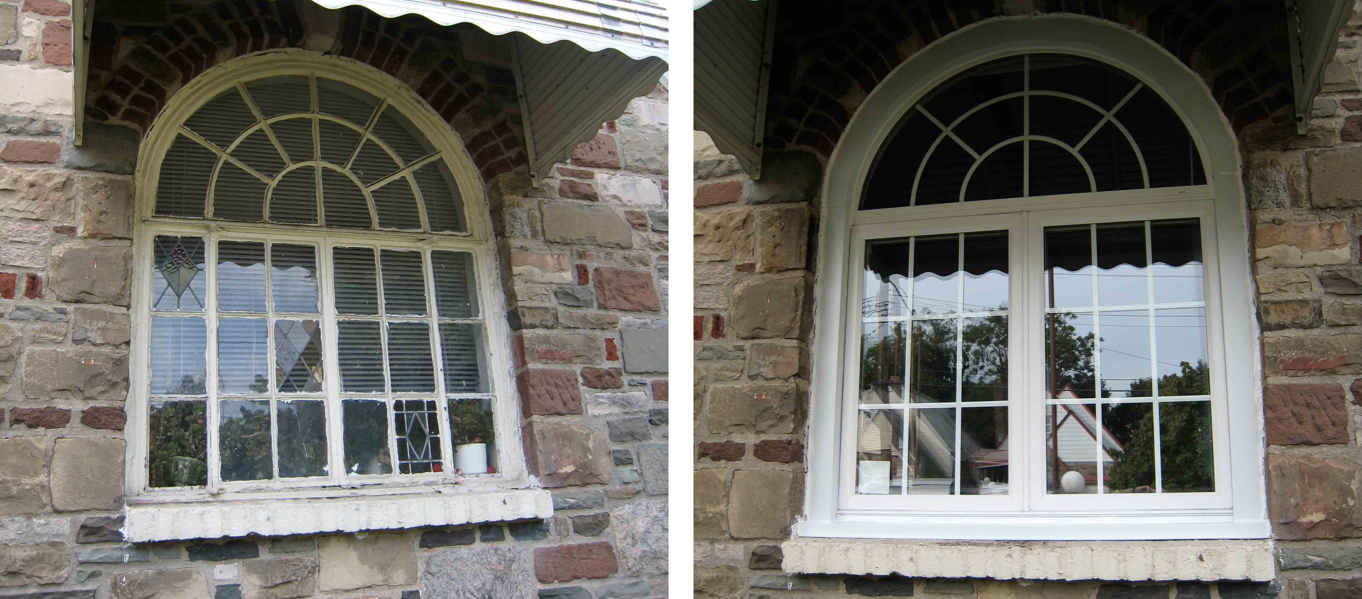 window with round top